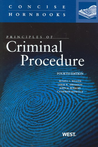 Principles of Criminal Procedure  4th 2012 (Revised) edition cover