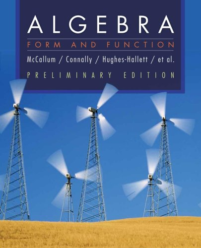 Algebra Form and Function  2008 edition cover