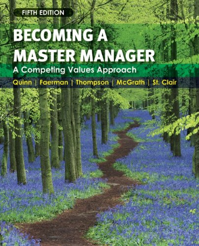 Becoming a Master Manager A Competing Values Approach 5th 2011 edition cover