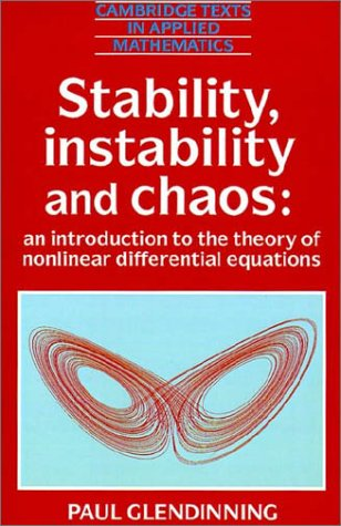 Stability, Instability and Chaos An Introduction to the Theory of Nonlinear Differential Equations  1994 edition cover