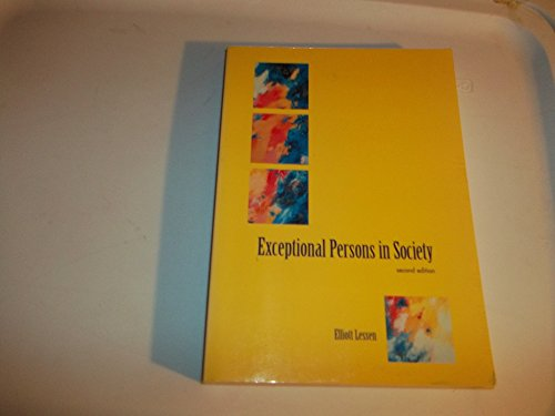 Exceptional Persons Society 2nd 1995 9780536586667 Front Cover