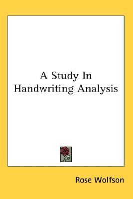 Study in Handwriting Analysis N/A edition cover