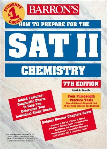 How to Prepare for the SAT II Chemistry  7th 2002 9780764116667 Front Cover