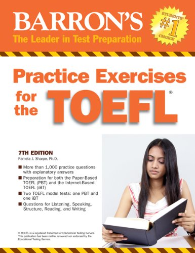 Practice Exercises for the TOEFL  7th 2011 (Revised) edition cover