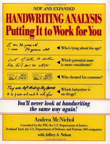 Handwriting Analysis Putting It to Work for You  1994 (Revised) edition cover