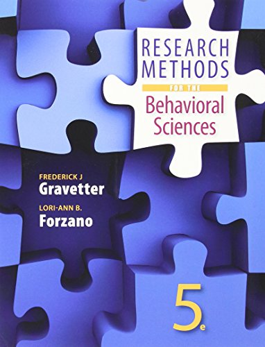 Research Methods for the Behavioral Sciences:   2015 9781305633667 Front Cover