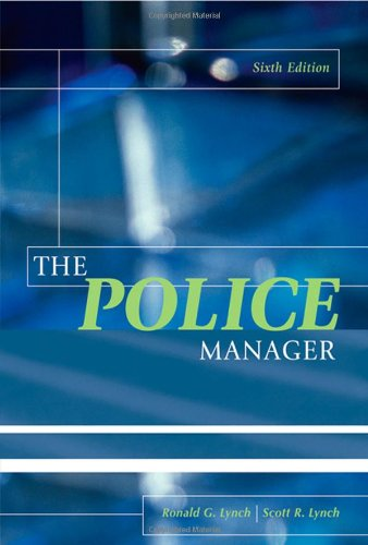 Police Manager  6th 2005 (Revised) edition cover