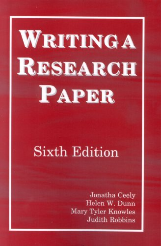 Writing a Research Paper 6th Edition 6th 2008 edition cover