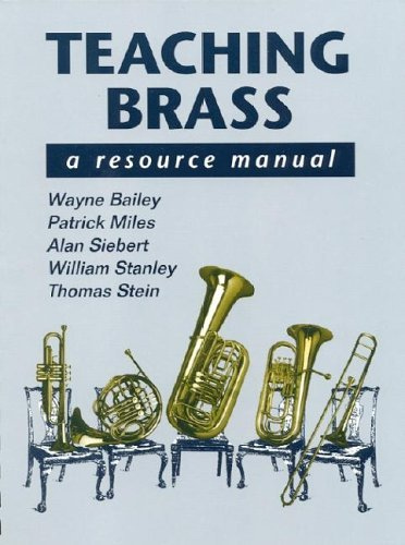 Teaching Brass A Resource Manual  1992 9780070032668 Front Cover