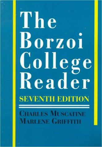Borzoi College Reader  7th 1992 edition cover