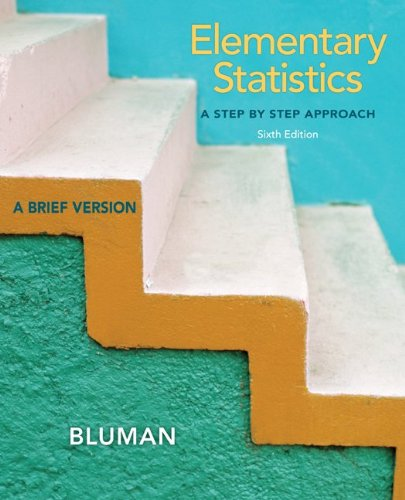 Elementary Statistics  6th 2013 edition cover
