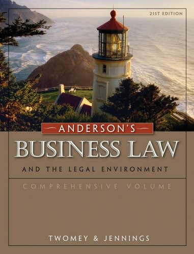 Business Law and the Legal Environment  21st 2011 edition cover