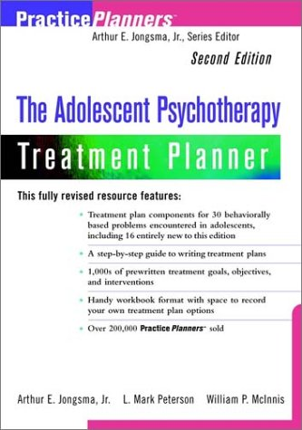 Adolescent Psychotherapy Treatment Planner  2nd 2000 edition cover