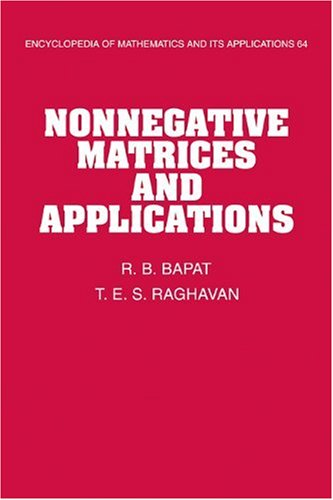Nonnegative Matrices and Applications   2009 9780521118668 Front Cover