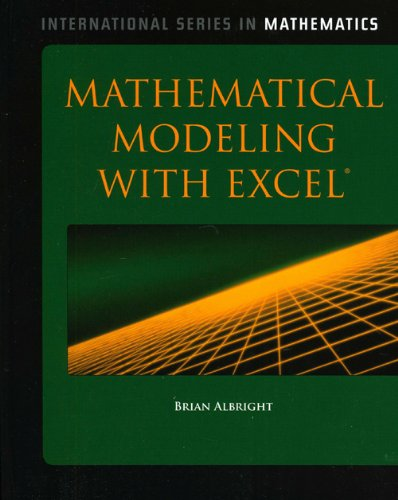 Mathematical Modeling with Excel  2010 edition cover