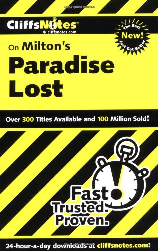 CliffsNotes on Milton's Paradise Lost   2001 edition cover