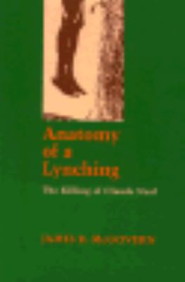 Anatomy of a Lynching The Killing of Claude Neal  1982 edition cover