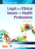 Legal and Ethical Issues for Health Professions  3rd 2014 edition cover