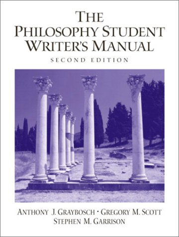 Philosophy Student Writer's Manual  2nd 2003 9780130991669 Front Cover