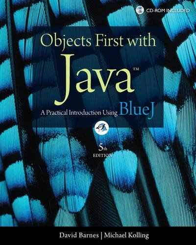 Objects First with Java A Practical Introduction Using BlueJ 5th 2012 (Revised) edition cover