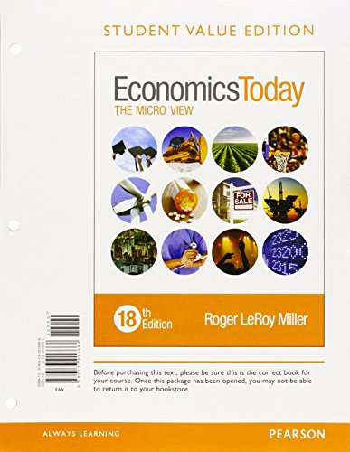 Economics Today: The Micro View; Student Value Edition  2015 edition cover