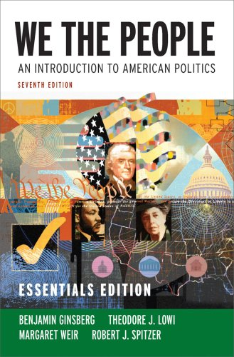 We the People An Introduction to American Politics 7th 2009 edition cover