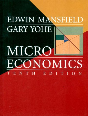 Microeconomics Theory and Applications 10th 2000 edition cover