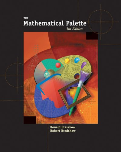 Mathematical Palette  3rd 2005 (Student Manual, Study Guide, etc.) 9780534403669 Front Cover