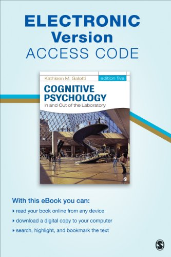 Cognitive Psychology in and Out of the Laboratory Electronic Version  5th edition cover
