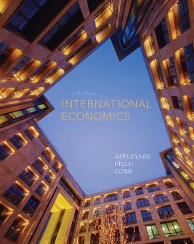 International Economics  6th 2008 9780073375670 Front Cover