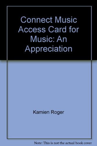 Music: An Appreciation Access Card:  2010 edition cover