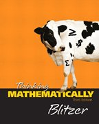 Thinking Mathematically Student Study Pack 3rd 2005 edition cover