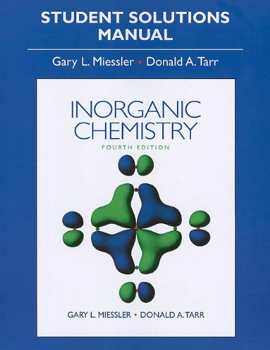 Solution Manual for Inorganic Chemistry  4th 2011 edition cover
