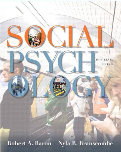 Social Psychology  13th 2012 edition cover