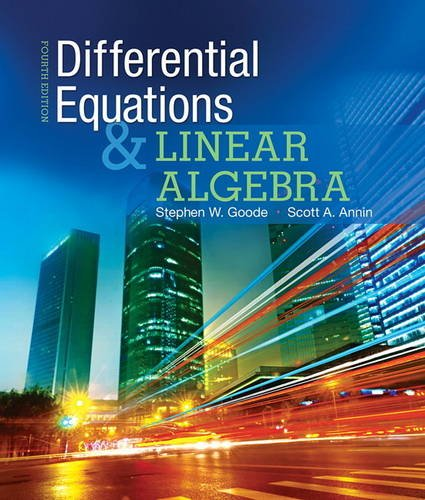 Differential Equations and Linear Algebra  4th 2016 9780321964670 Front Cover