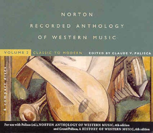 History of Western Music and the Norton Anthology of Western Music Vol. II : Recordings 2nd 2001 edition cover
