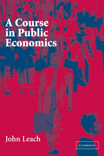 Course in Public Economics   2004 edition cover