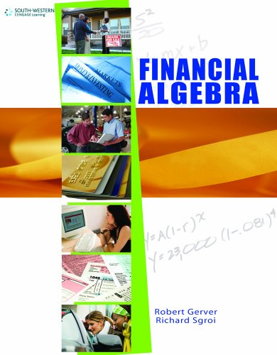 Financial Algebra, Student Edition   2011 (Student Manual, Study Guide, etc.) 9780538449670 Front Cover