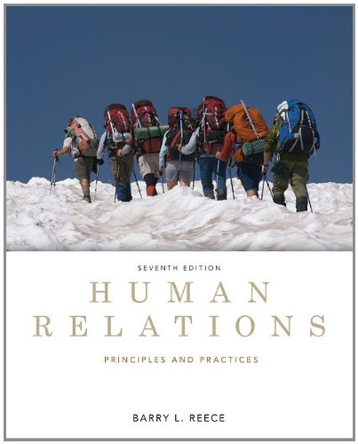 Human Relations : Principles and Practices  7th 2012 (Revised) 9780538481670 Front Cover
