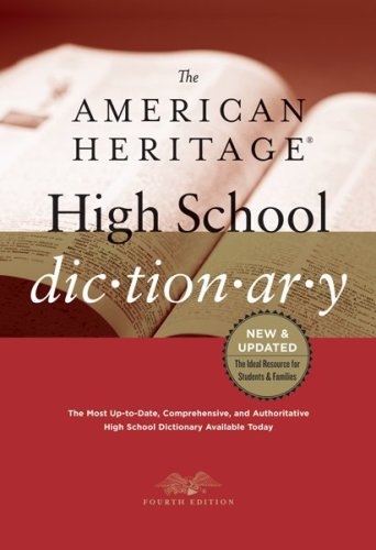 American Heritage High School Dictionary  N/A 9780547247670 Front Cover