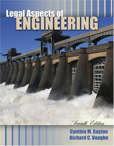 Legal Aspects of Engineering  7th 2004 (Revised) edition cover