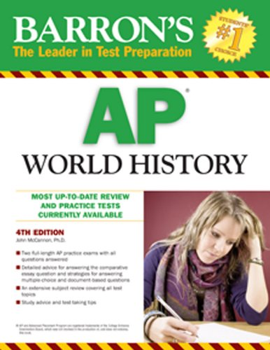 Barron's AP World History  4th 2010 (Revised) edition cover