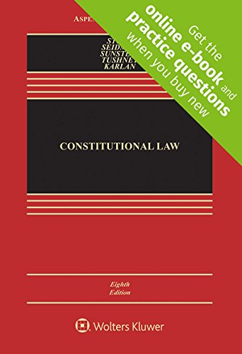Constitutional Law: 8th 2017 9781454876670 Front Cover
