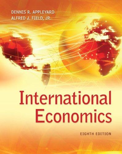 International Economics  8th 2014 edition cover