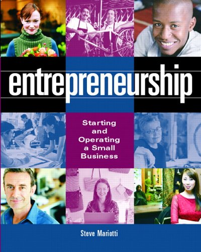 Entrepreneurship (For College Students) Starting and Operating a Small Business  2007 edition cover
