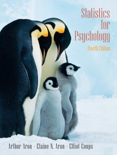 Statistics for Psychology  4th 2006 (Revised) 9780131931671 Front Cover