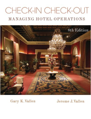 Check-In Check-Out Managing Hotel Operations 8th 2009 edition cover