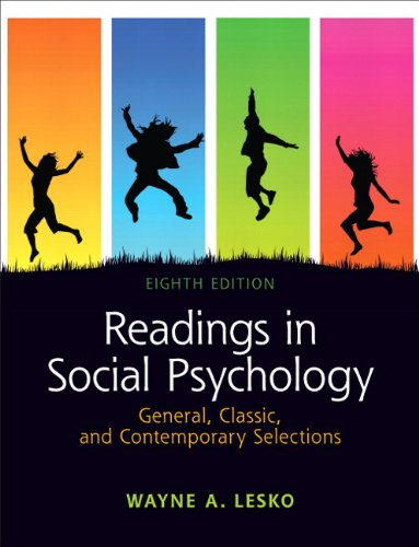 Readings in Social Psychology General, Classic, and Contemporary Selections 8th 2012 (Revised) edition cover