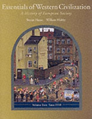 Essentials of Western Civilization A History of European Society, since 1550  2001 9780534578671 Front Cover