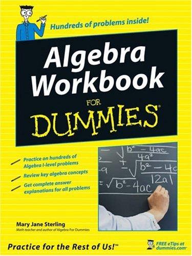 Algebra Workbook for Dummies�  2005 edition cover